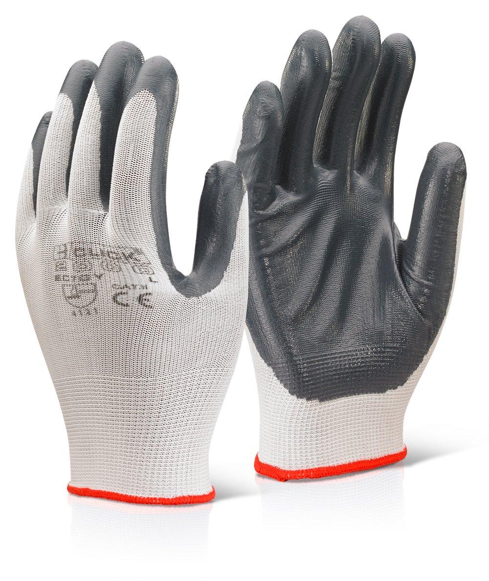 Nitril Handschuhe Palm beschichtetem Polyester Grau M