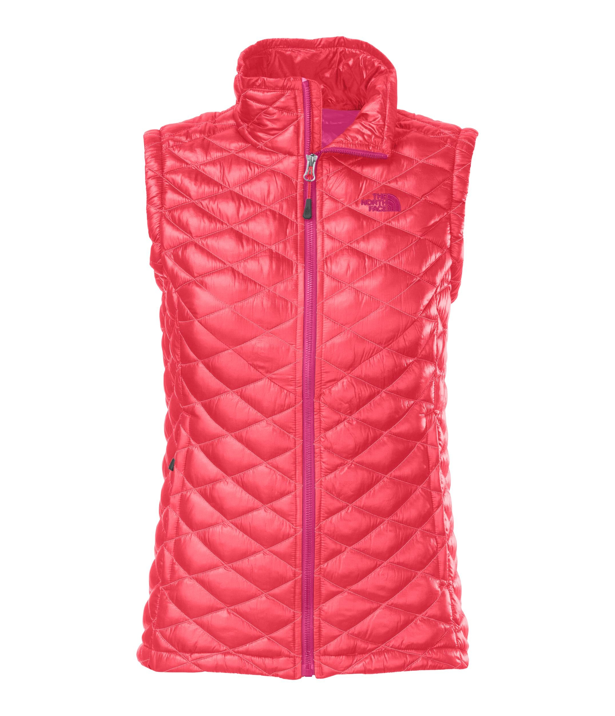 The North Face ThermoBall Vest Womens Vest Small Rambutan Pink