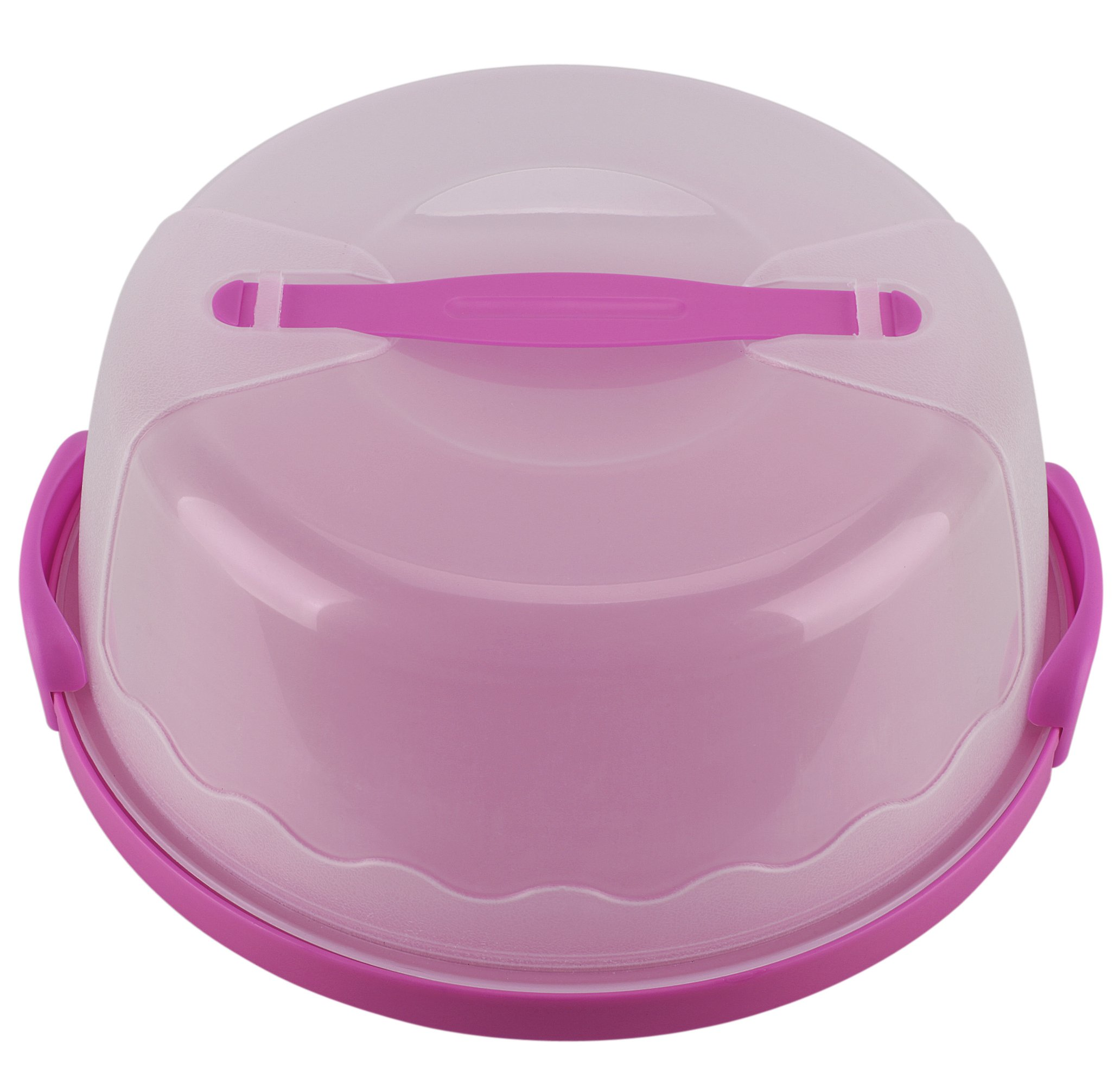 HelloCupcake Portable Cake and Cupcake Carrier / Storage Container - 10.4'' Diameter (Inside Cover), Translucent Dome - Perfect for Transporting Cakes, Cupcakes, Pies, or Other Desserts (Purple)