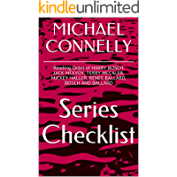 MICHAEL CONNELLY SERIES CHECKLIST - Reading Order of HARRY BOSCH, JACK MCEVOY, TERRY MCCALEB, MICKEY HALLER, RENEE BALLARD, BOSCH AND BALLARD