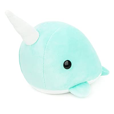 Bellzi Teal Narwhal Stuffed Animal Plush Toy - Adorable Plushie Toys and Gifts! - Narrzi