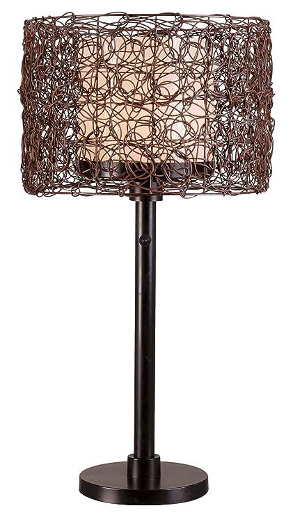 Amazon.com: Kenroy Home 32219BRZ Tanglewood Lámpara de mesa ...
