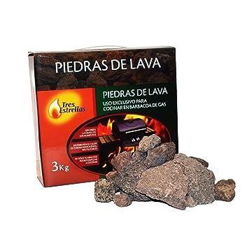 Piedras Volcánicas para Barbacoa, 3 kg | Rocas de Lava Perfectas para Cocinar en Parrilla