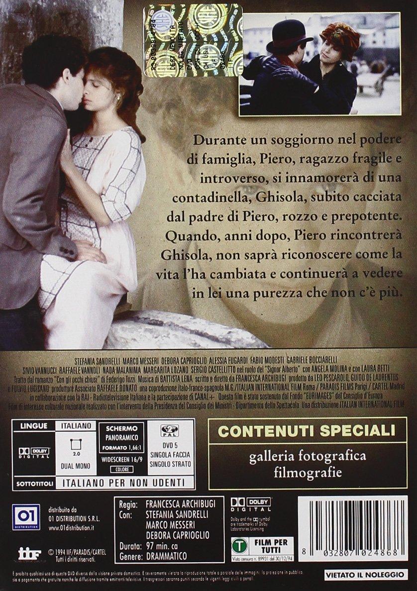 Amazon.com: Con Gli Occhi Chiusi: debora caprioglio, stefania sandrelli, francesca archibugi: Movies & TV
