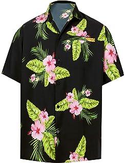 f4d86765 HAPPY BAY 3D Button Down Summer Casual Tropical Hawaiian Beach Shirts Men  DRT208