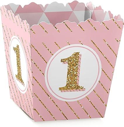Amazon.com: Caja de regalo para primer cumpleaños con texto ...