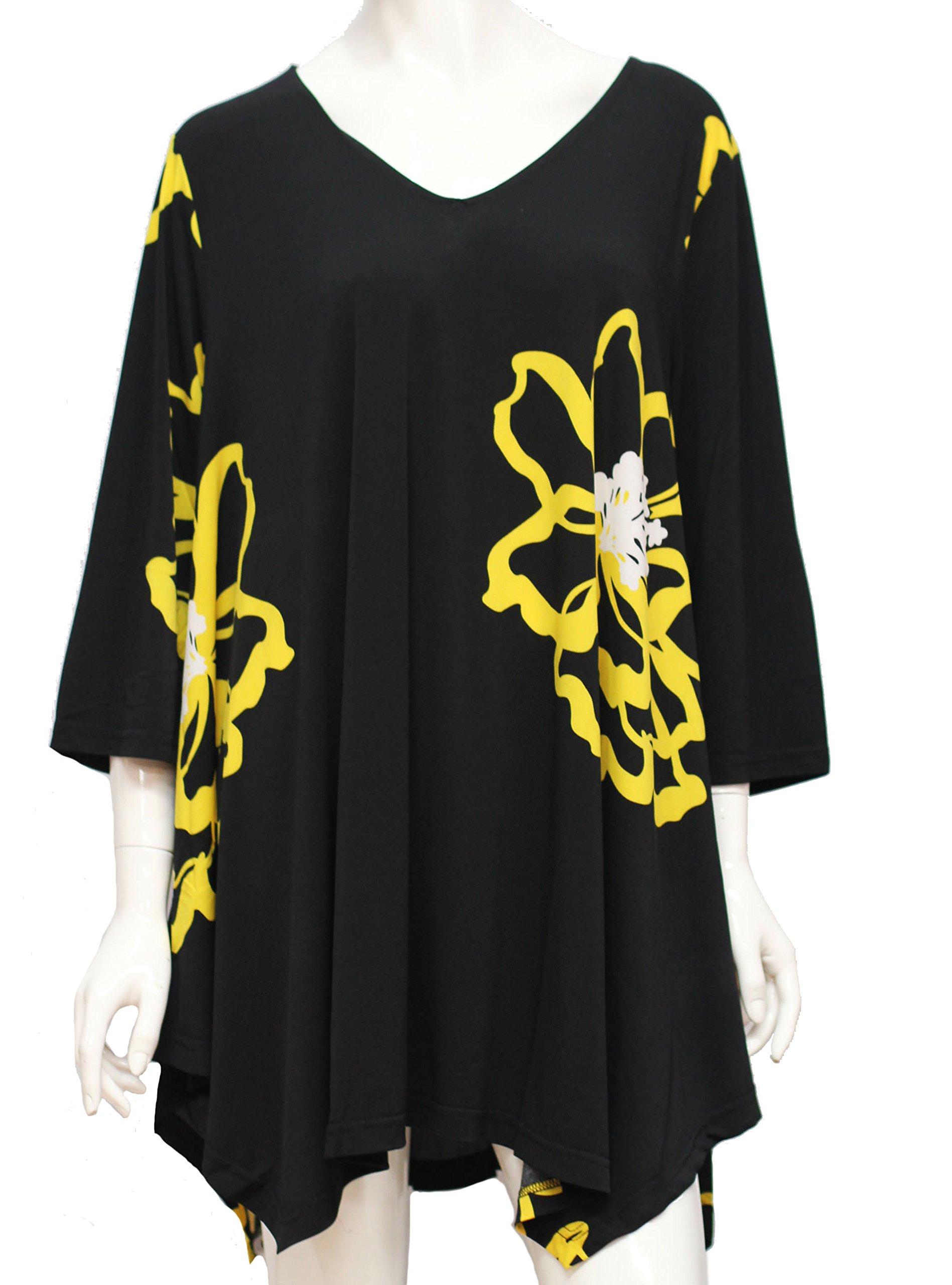 Alisha D Travel Wear Best Selling Plus Sized Tunic (Print 2, 2)
