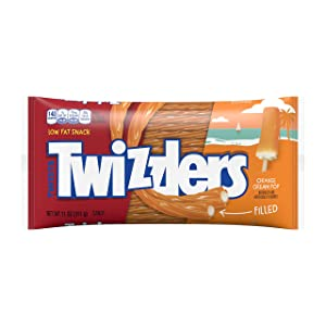 Twizzlers Orange Cream Pop Flavored Filled Twists, 12 Count