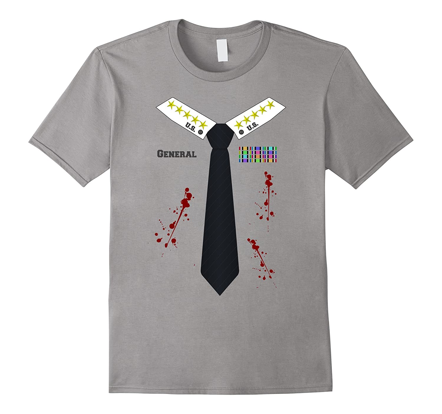 Bloody or Zombie Army General Halloween Costume T-shirt