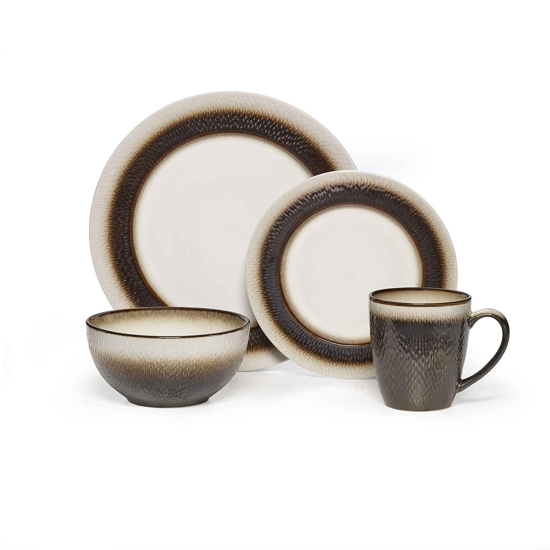 Amazon.com | Pfaltzgraff Eclipse 16 Piece Dinnerware Set Stoneware Bronze Dinnerware Sets  sc 1 st  Amazon.com & Amazon.com | Pfaltzgraff Eclipse 16 Piece Dinnerware Set Stoneware ...