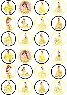 Amazoncom Beauty and The Beast Belle Disney Cupcake Toppers
