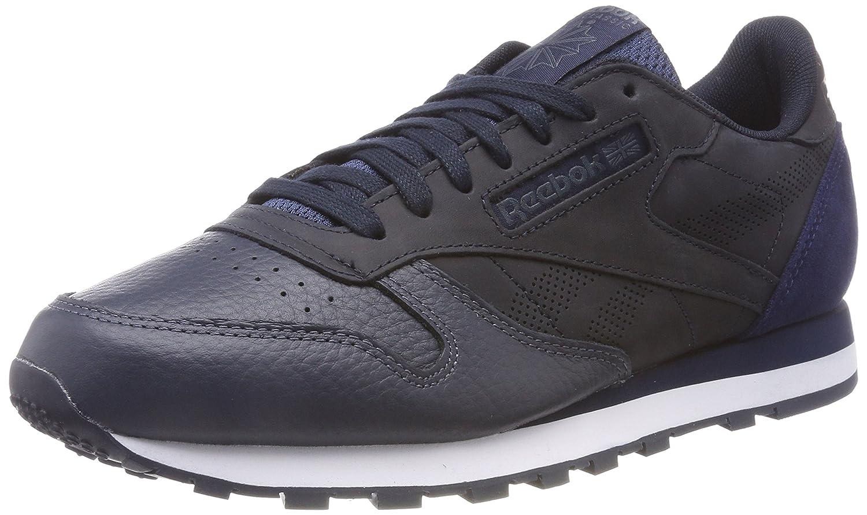 Reebok Herren Classic Leather Ue Gymnastikschuhe  45.5 EU Blau (Night Navygraphitecollegiate Navywhite)