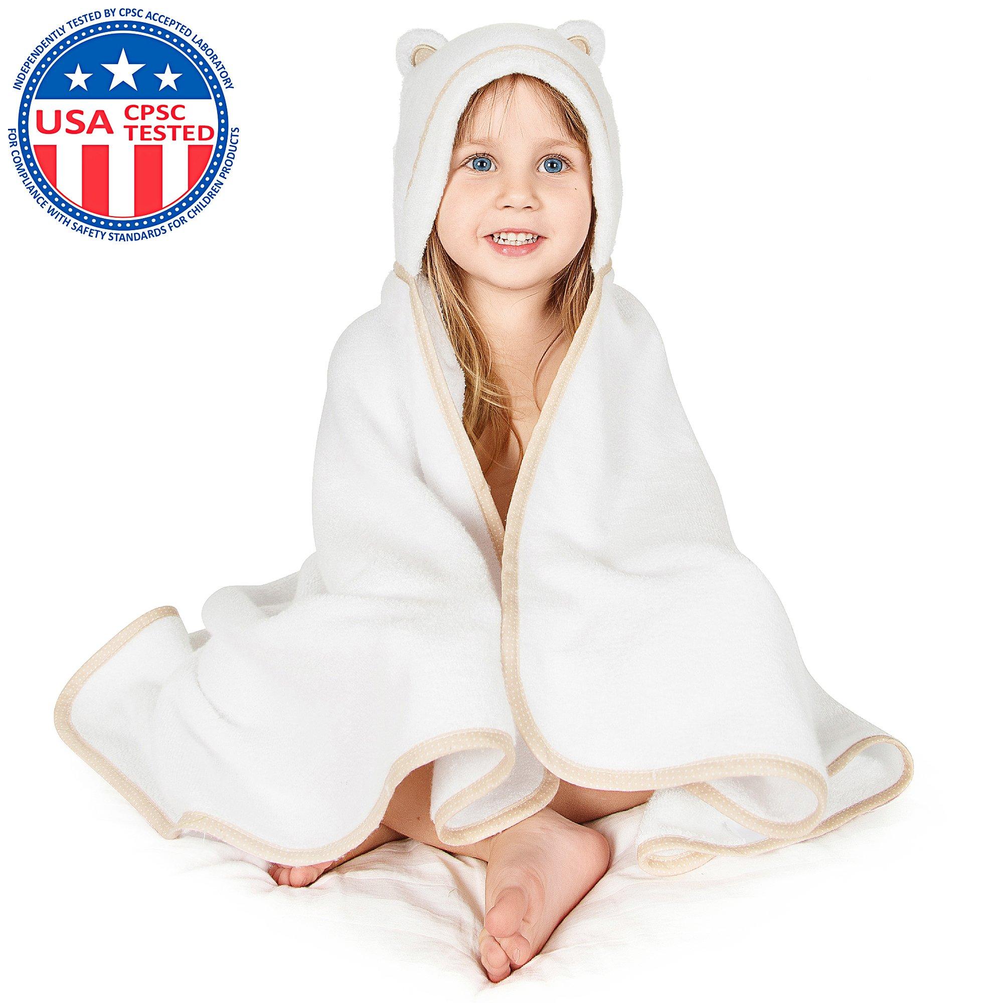 Amazon.com : Organic Hooded Baby Bath Towel
