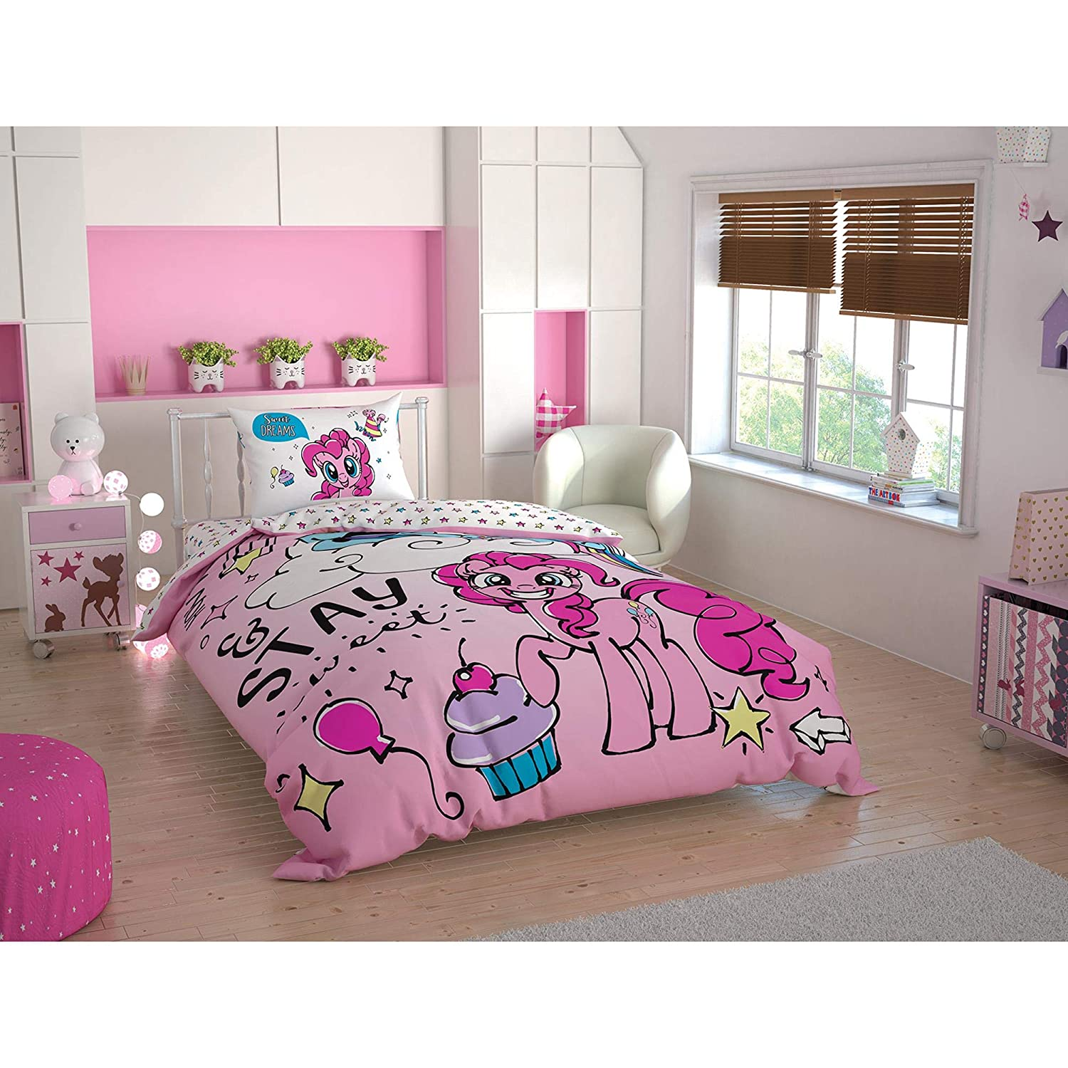 My Little Pony Sweet Dreams %100 Cotton Bedding Set Licenced Product Quilt Cover Set Duvet Cover Pillow Case Fitted Sheet