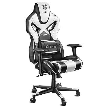 Diablo X Fighter Gaming Stuhl Bürostuhl Verstellbare Armlehnen 3d