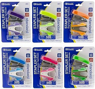 500 Standard Staple Remover 26//6 Value Pack Fancy Mini Stapler Staples 697