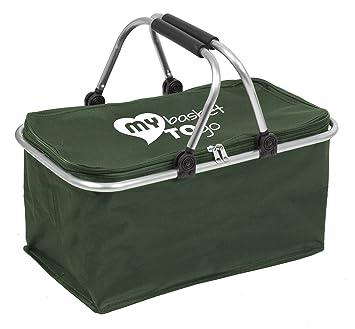Sac à provisions - sac panier PIQUE-NIQUE pliable shopping sac pour course (EINKAUFSKORB) (BLEU) OuCZGlc