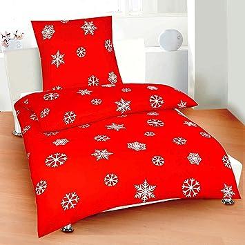 Weihnachts Bettwäsche Microfaser Biber 135x200 80x80 Design