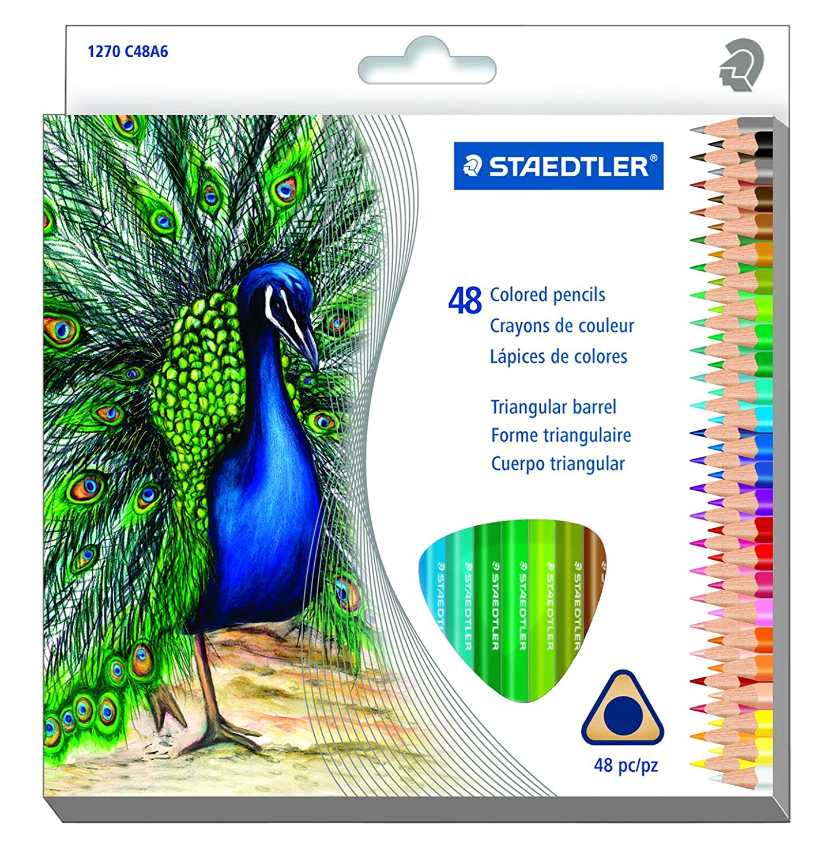 Amazon.com : Staedtler Coloring Pencil Wood Colored Pencil (1270 ...