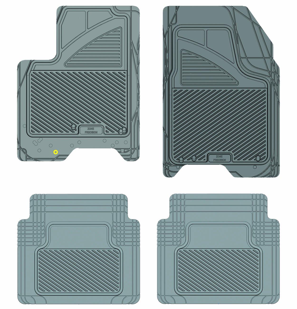 Black Koolatron Pants Saver Custom Fit 4 Piece All Weather Car Mat