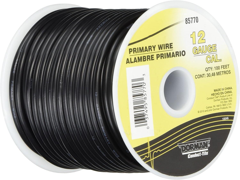 22 pa wiring amazon com dorman 85770 black 100  12 gauge wire automotive  dorman 85770 black 100  12 gauge wire