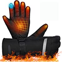 MOVTOTOP Heated Gloves,Battery Heated Gloves for Men Women Rechargeable Waterproof 【2020 Newest 】 3 Heating Temperature…