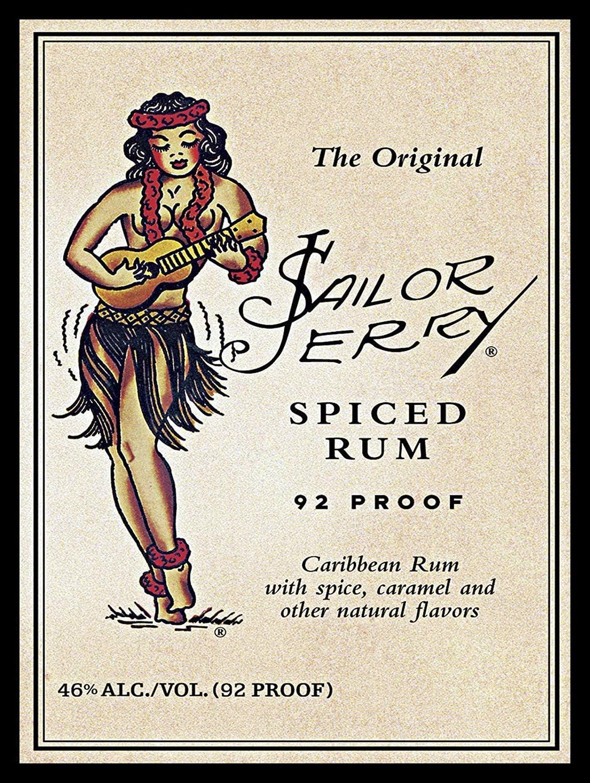 Sailor Jerry Retro-Mode-Wand-Dekor-Hauptkunst-Plakat ...