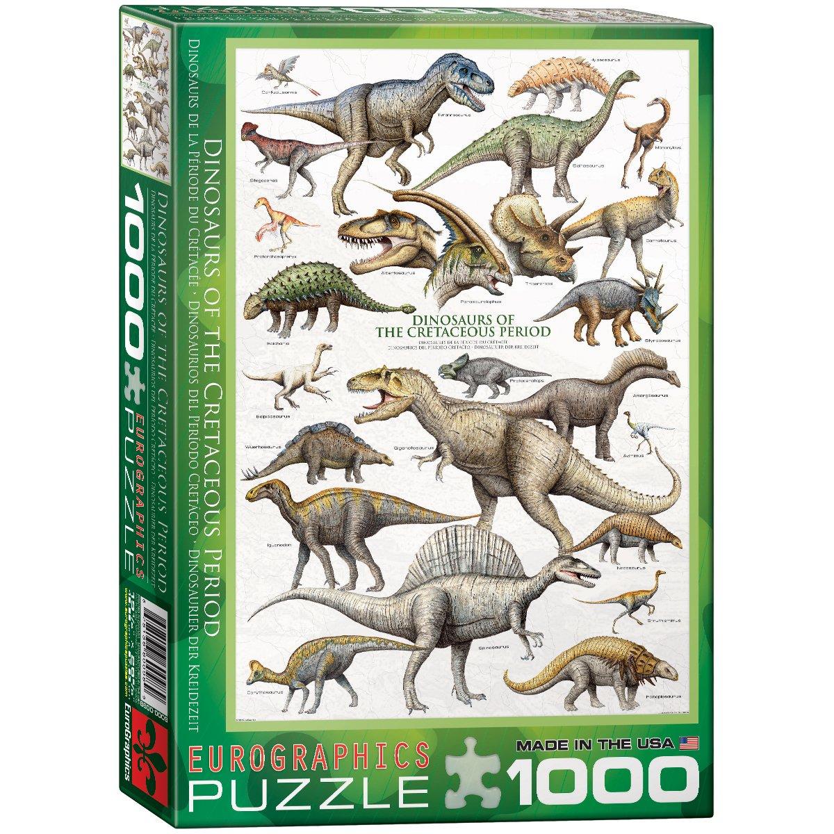 Amazon.com: EuroGraphics Dinosaurs Cretaceous 1000 Piece Puzzle ...