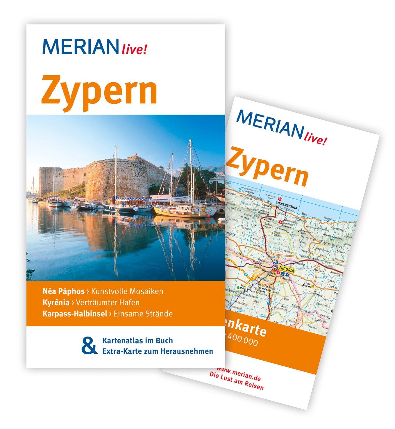 MERIAN live! Reiseführer Zypern: MERIAN live! - Mit Kartenatlas im Buch und Extra-Karte zum Herausnehmen