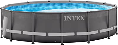 Intex 14ft X 42in Ultra Frame Pool Set with Filter Pump, Ladder, Ground Cloth & Pool Cover