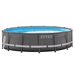 Intex 14ft x 42in Ultra Frame Pool Set with Filter Pump, Ladder, Ground Cloth, and Pool Cover
