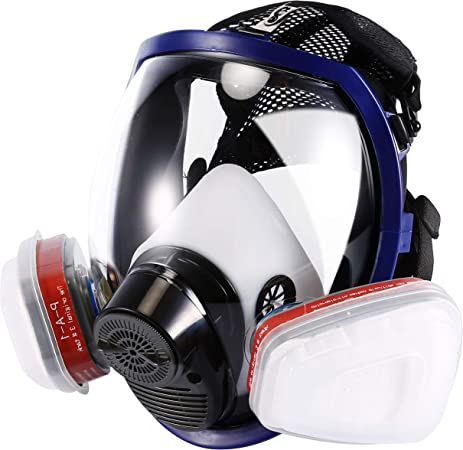 holulo full face organic vapor respirator safety mask