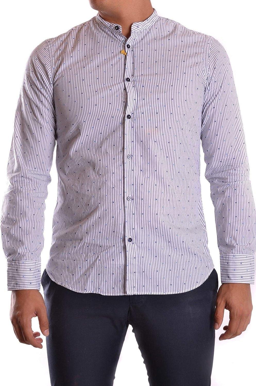 Season Outlet MANUEL RITZ Luxury Fashion Mens MCBI26241 Blue Shirt