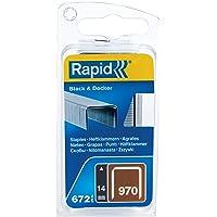 Rapid Nietjes type 970, 14 mm klemmen, 672 stuks, platte draadklemmen voor Black & Decker hand- en elektronietmachine