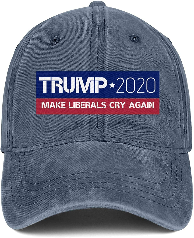 NYQACRRRE Men Women Caps Trump 2020 Hat Snapback Flat Denim Cap Blank Hats