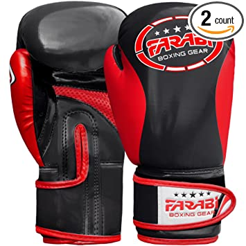 Leather Boxing Gloves Muay Thai MMA Punching Sparring Kids Training Boxing Glove Boxing Gloves