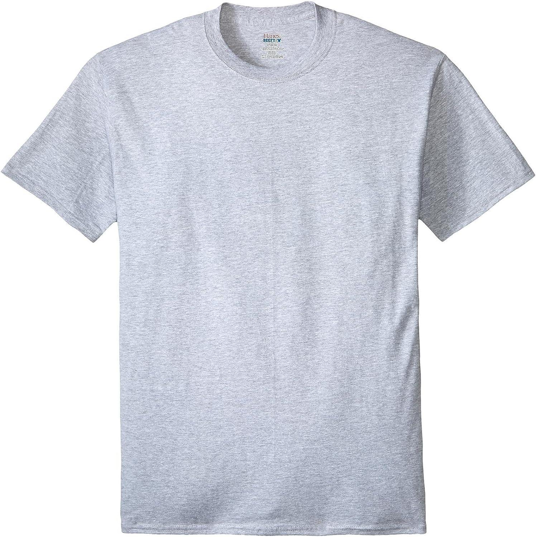 Hanes Men's Big and Tall Big & Tall Beefy-t Crew Neck Short Sleeve T-Shirt