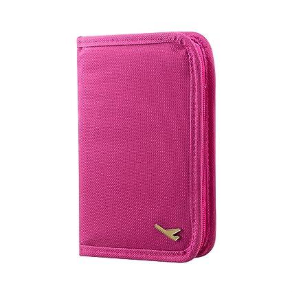 nuovo prodotto 11ce0 8a2f1 TRIXES Portafoglio, portadocumenti, organiser da viaggio rosa