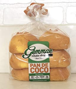 Gemmae Bake Shop - Pan de Coco - Traditional Filipino bread w/sweet coconut filling - freshly baked the day of shipping!
