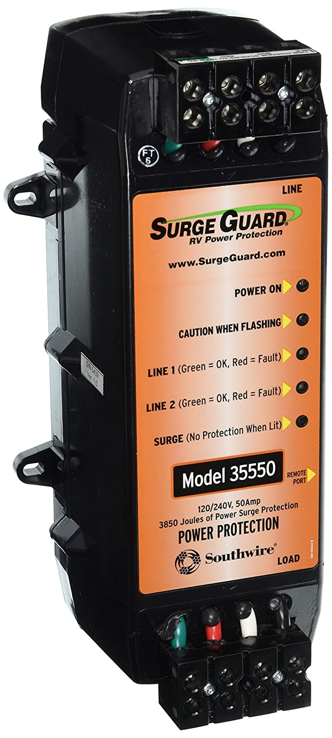 Surge Guard 35550 Hardwire Model 50 Amp Automotive Camp Ground Wiring Of A Typical 50a And 30a 20a Pedestal Connection