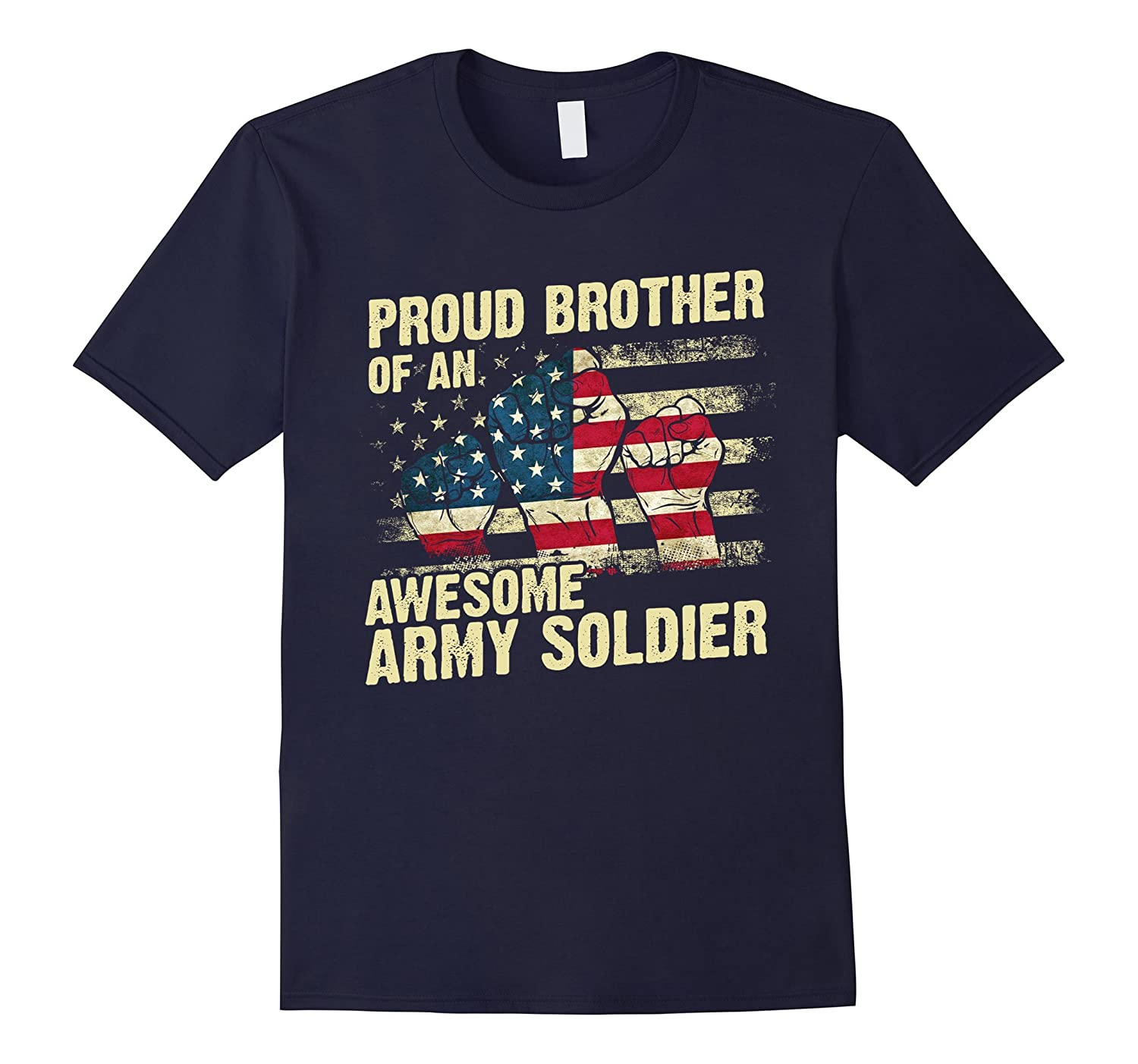 American Proud Brother Of An Awesome Army Soldier T-shirt-TH