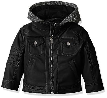4a731c3fd298 Amazon.com  Urban Republic Baby Boys Texture Faux Leather Jacket ...