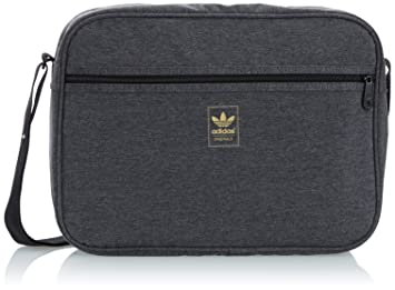 e9674b9443d4 adidas Air Liner Jersey Bag - Dark Grey Heather Black Metallic Gold ...