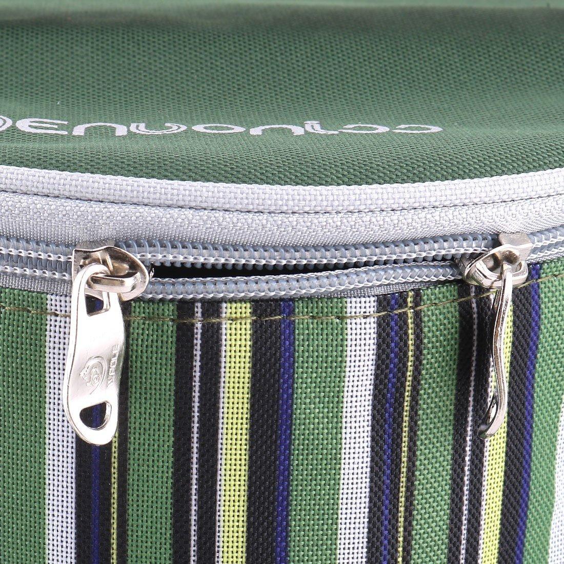 Amazon.com: eDealMax tela de Oxford acampar al aire libre Ronda de cierre de cremallera calientaplatos del refrigerador del hielo titular bolsa verde del ...