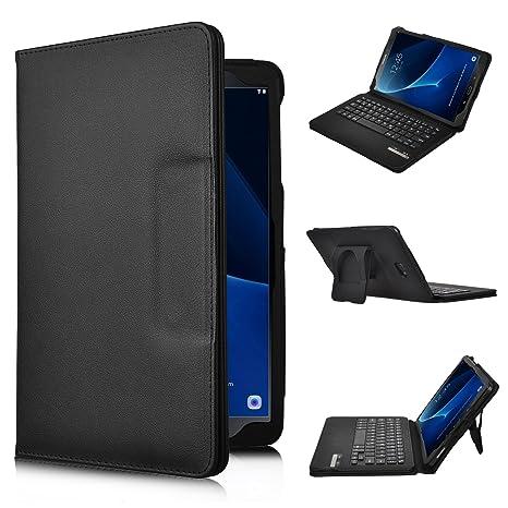 IVSO Samsung Galaxy Tab A 10.1 Teclado Estuche [QWERTY Layout], Funda de Cuero