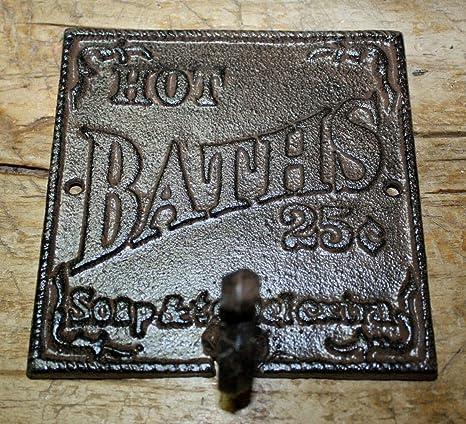 Amazoncom Vintage Antique Hooks Cast Iron Hot Baths 25