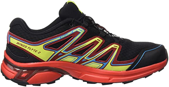 Salomon Wings Flyte 2 GTX, Zapatillas de Trail Running para Hombre, Rojo (Red Dalhia/Flame/Black), 41 1/3 EU