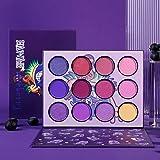 DE'LANCI Purple Eyeshadow Palette,12 Colors Matte Shimmer High Pigmented Mini Makeup Eyeshadow Pallet,Bright Natural Blendabl