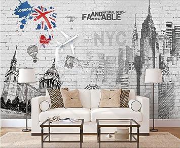 Papier Peint 3d Nordic Style Anglais Blanc Mur Construction