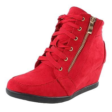 b47b1d556 Amazon.com   Forever Link Women's Shea-42 Fashion Wedge Sneakers   Fashion  Sneakers